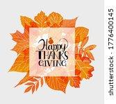 hand drawn happy thanksgiving... | Shutterstock .eps vector #1776400145