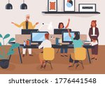 friendly colleagues taking part ... | Shutterstock .eps vector #1776441548