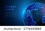 abstract  earth globe. world... | Shutterstock .eps vector #1776443885
