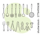 cooking tools. collection of... | Shutterstock .eps vector #1776450638
