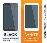 flat designed black and white... | Shutterstock .eps vector #177645386