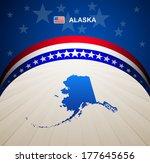 alaska map vector background | Shutterstock .eps vector #177645656