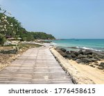 Wooden Path  Rocky Shore And...