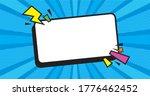 empty dynamic comic speech... | Shutterstock .eps vector #1776462452