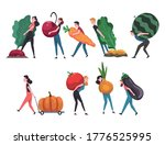 people carrying giant... | Shutterstock .eps vector #1776525995