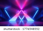 3d Render  Abstract Neon Light...