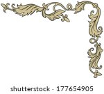 vintage ornament frame in retro ... | Shutterstock . vector #177654905