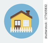 house flat icon | Shutterstock .eps vector #177655832