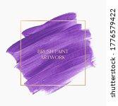 purple logo brush paint acrylic ... | Shutterstock .eps vector #1776579422