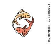 pisces zodiac sign rgb color... | Shutterstock .eps vector #1776580925