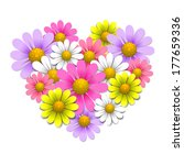 flowers in the shape of heart ... | Shutterstock .eps vector #177659336