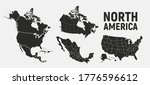 north america map templates.... | Shutterstock .eps vector #1776596612