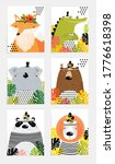 posters with animals. cartoon...   Shutterstock .eps vector #1776618398