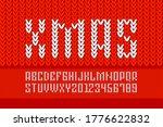 christmas font  alphabet... | Shutterstock .eps vector #1776622832