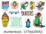 skateboard shop badges and logo ... | Shutterstock .eps vector #1776625052