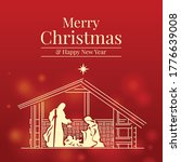 merry christmas and happy new... | Shutterstock .eps vector #1776639008