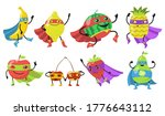 various superhero fruits flat...   Shutterstock .eps vector #1776643112