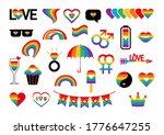 pride symbols set for lgbt...   Shutterstock . vector #1776647255
