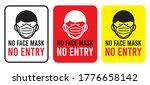no face mask no entry sign.... | Shutterstock .eps vector #1776658142