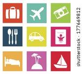 travel design over  white...