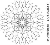 simple mandala shape for... | Shutterstock .eps vector #1776703655