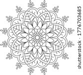 simple mandala shape for... | Shutterstock .eps vector #1776703685