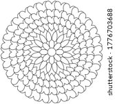 simple mandala shape for... | Shutterstock .eps vector #1776703688