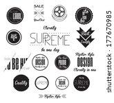 set of cool hipster modern...   Shutterstock .eps vector #177670985