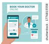 book your doctor online ... | Shutterstock .eps vector #1776815558