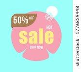 vector illustration of a sale... | Shutterstock .eps vector #1776829448
