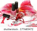 color nail polish  | Shutterstock . vector #177685472