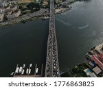 Drone Shot Of Lagos Traffic ...