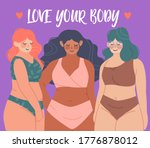 love your body card  poster.... | Shutterstock .eps vector #1776878012