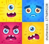 funny monster expressions.... | Shutterstock .eps vector #1776890138