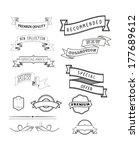 set of vintage labels and... | Shutterstock .eps vector #177689612