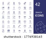 snack icons set. collection of... | Shutterstock .eps vector #1776938165