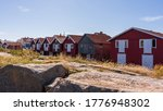 Typical Swedish Red Boathouses...