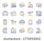airport line icons. boarding...   Shutterstock .eps vector #1776953042