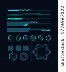 futuristic hud element... | Shutterstock .eps vector #1776967322