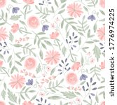 seamless pattern of elegant and ... | Shutterstock .eps vector #1776974225