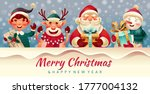 merry christmas and new year... | Shutterstock .eps vector #1777004132
