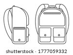 school backpack icon. side and... | Shutterstock .eps vector #1777059332