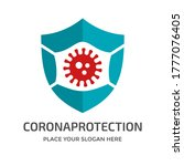 shield with mask vector logo... | Shutterstock .eps vector #1777076405