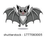 bat cartoon isolated vampire... | Shutterstock .eps vector #1777083005