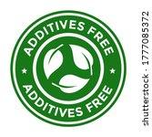 additives free vector logo... | Shutterstock .eps vector #1777085372