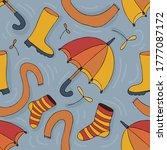 Autumn Rainy Weather Items On A ...