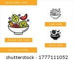 salad bowl icons set vector... | Shutterstock .eps vector #1777111052