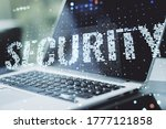 cyber security creative concept ...