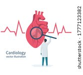 cardiology concept....   Shutterstock .eps vector #1777123382