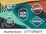 line art geometric emblems on...   Shutterstock .eps vector #1777190675